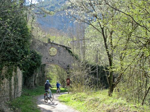 La via verda ressegueix la vall de Malatosca, un afluent del riu Ter que neix a la Serra Cavallera, just davant nostre. /© Gg