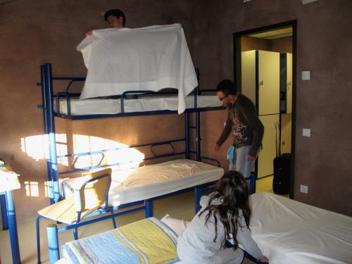 El primer que fem a l'alberg: els llits. /© Gg