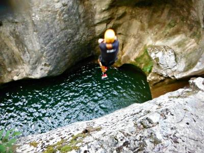 Un dels salts més alts! Cal respirar fondo, concentrar-se i fer un pas endavant./© Gg