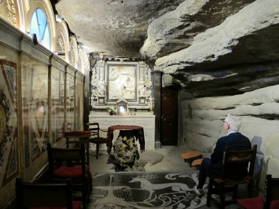 La coveta, a Manresa, on Sant Ignasi de Loiola va meditar durant dies /© Gg