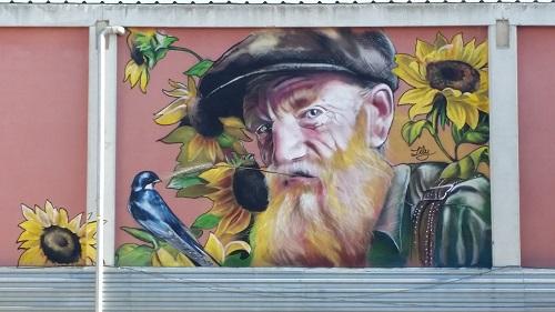 El senyor del pavelló municipal, de més a prop /© Gg