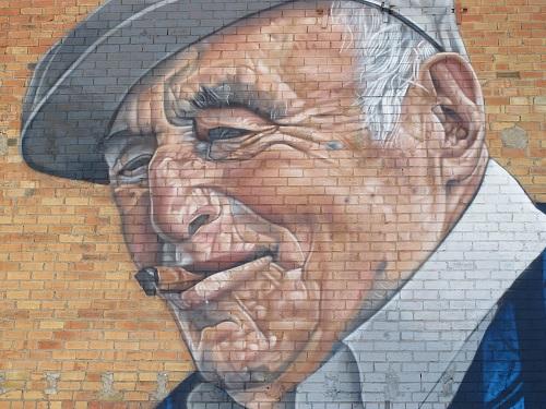 La pintura més emblemàtica és el retrat d'en Tato, en Joan Mata, un veí del poble /© Gg