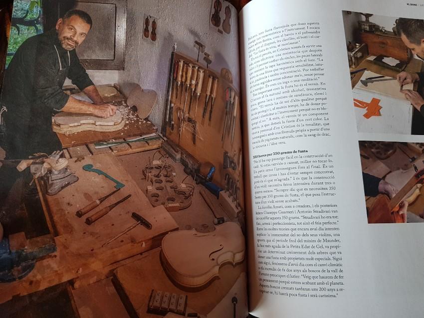 Revista Arrels, de la cooperativa SOM. Article sobre el luthier del Montseny,